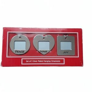Silver Plated Mini Picture Frames Ornaments